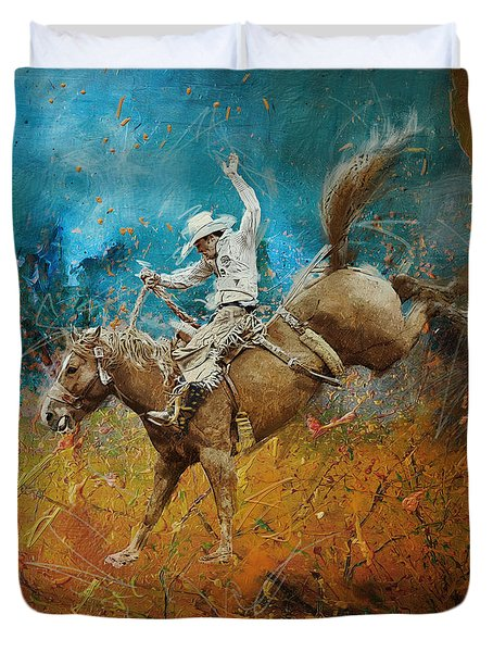 Rodeo 001 Duvet Cover by Corporate Art Task Force
