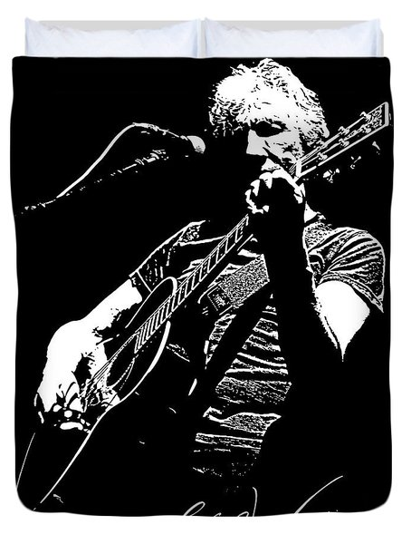 Roger Waters No.01 Duvet Cover by Caio Caldas