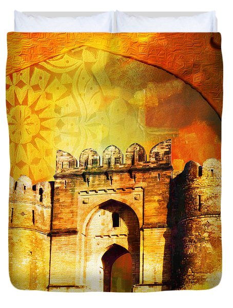 Rohtas Fort 00 Duvet Cover by Catf