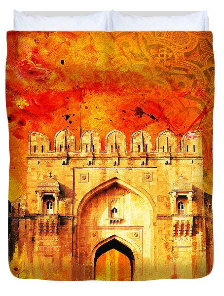 Rohtas Fort 01 Duvet Cover by Catf