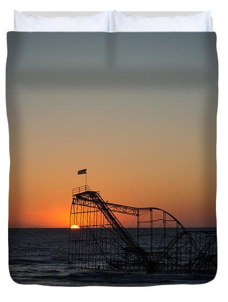 Roller Coaster Sunrise 2 Duvet Cover by Michael Ver Sprill