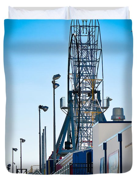 Rollercoaster Duvet Cover by Trish Tritz