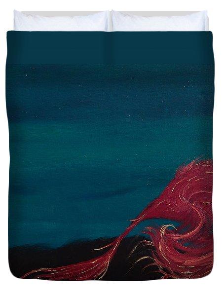 Rollin Seaweed Duvet Cover by Robert Nickologianis