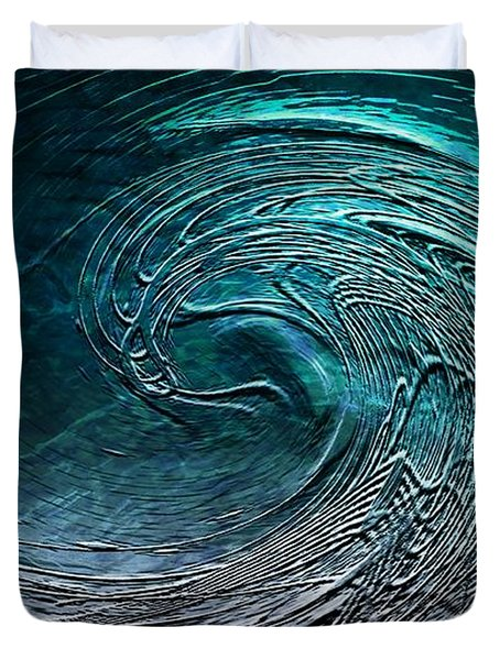 Rolling In The Deep Duvet Cover by Barbara Chichester