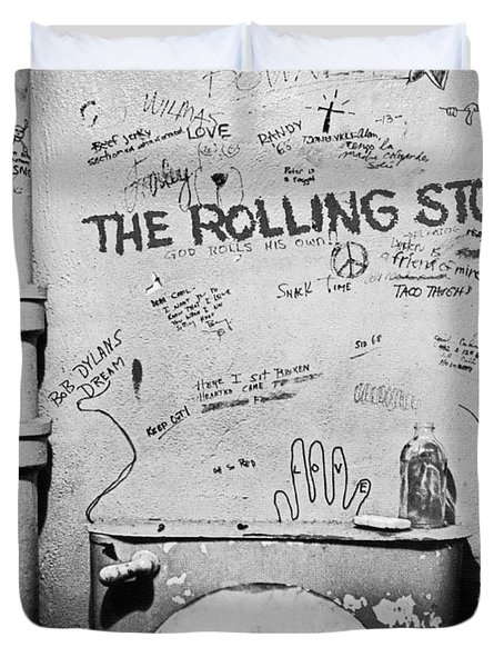 Rolling Stones Duvet Cover by Jerry Cordeiro