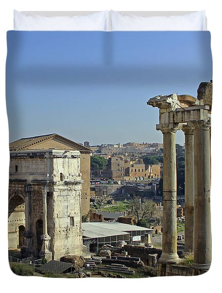 Roman Forum  Duvet Cover by Tony Murtagh