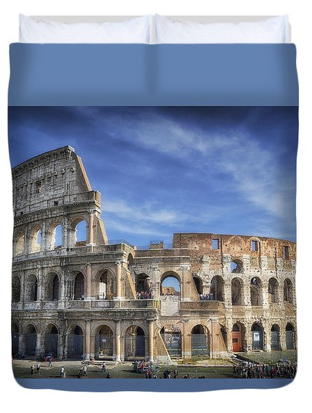 Roman Icon Duvet Cover by Joan Carroll