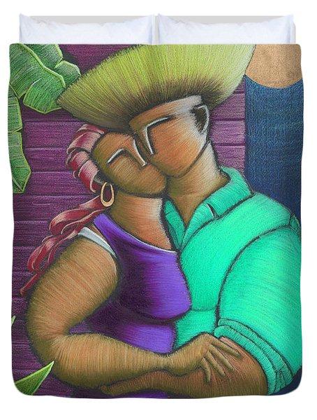 Romance Jibaro Duvet Cover by Oscar Ortiz