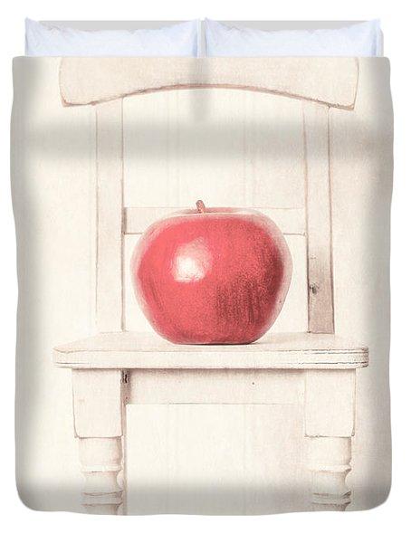 Romantic Apple Still Life Duvet Cover by Edward Fielding