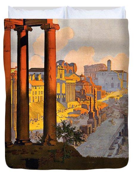 Rome Par La Voie Du Mont-cenis Duvet Cover by Georgia Fowler