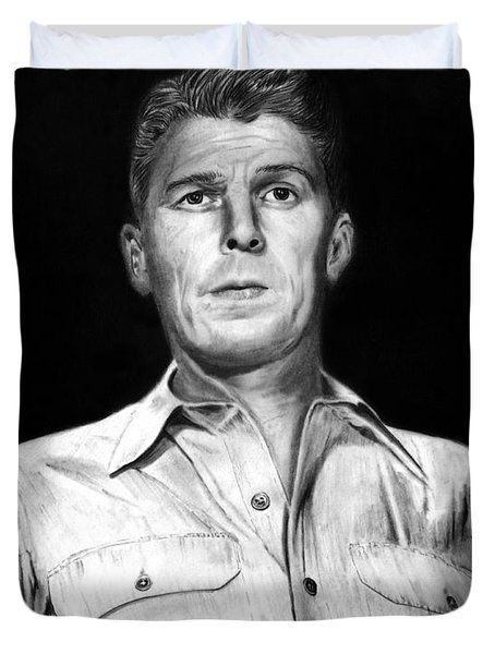 Ronald Regan Duvet Cover by Peter Piatt
