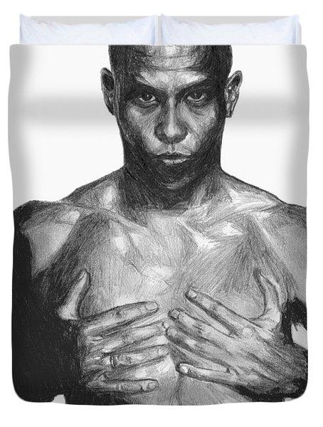 Ronaldo Duvet Cover by Tamir Barkan