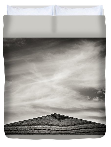 Rooftop Sky Duvet Cover by Darryl Dalton