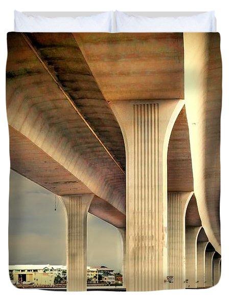 Roosevelt bridge-1 Duvet Cover by Rudy Umans