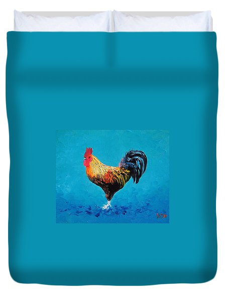 Rooster Emanuel Duvet Cover by Jan Matson