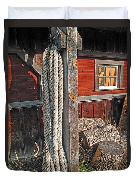 Ropes And Woods Duvet Cover by Barbara McDevitt