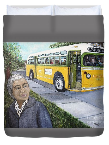 Rosa Parks Duvet Cover by Reb Frost