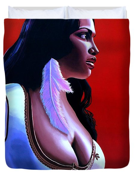 Rosario Dawson Duvet Cover by Paul  Meijering