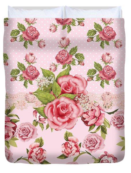 Rose Elegance Duvet Cover by Debra  Miller