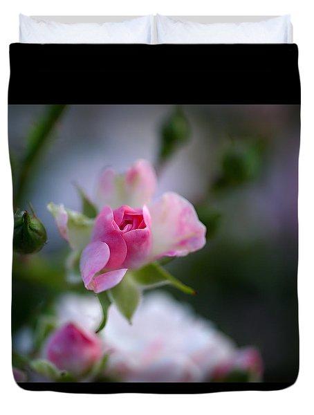 Rose Emergent Duvet Cover by Rona Black