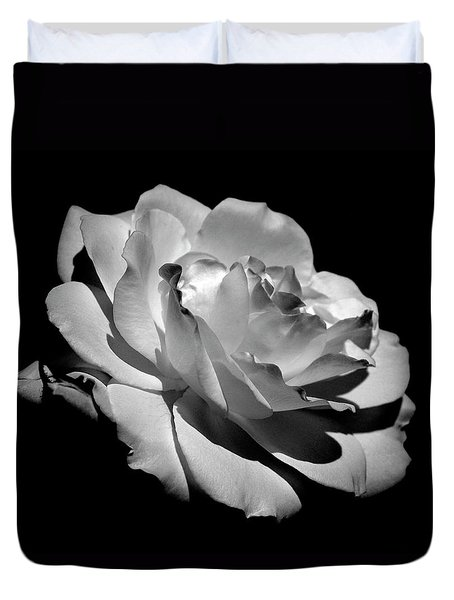 Rose Duvet Cover by Rona Black