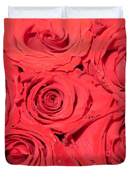 Rose Swirls Duvet Cover by Sonali Gangane