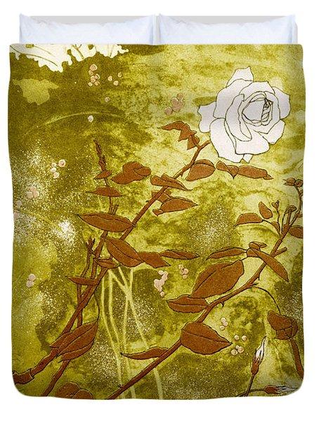 Rose Duvet Cover by Valerie Daniel