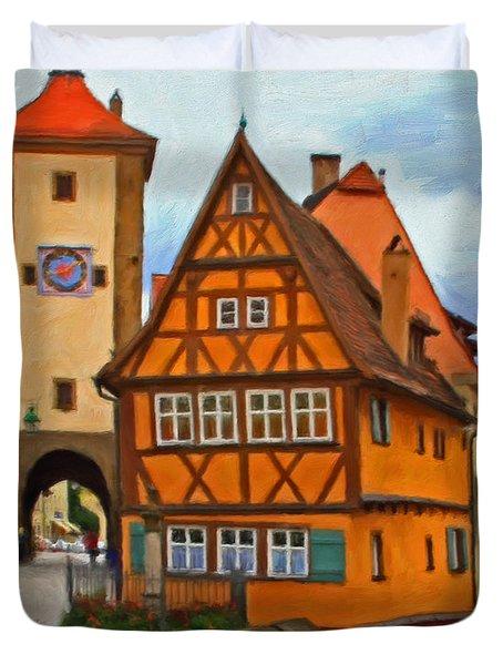 Rothenburg Duvet Cover by Michael Pickett