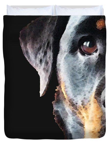 Rottie Love - Rottweiler Art By Sharon Cummings Duvet Cover by Sharon Cummings