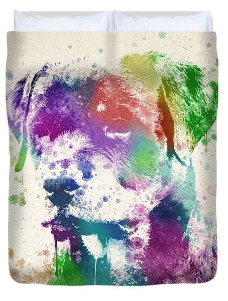Rottweiler Splash Duvet Cover by Aged Pixel