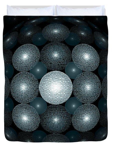Round And Round Duvet Cover by Klara Acel