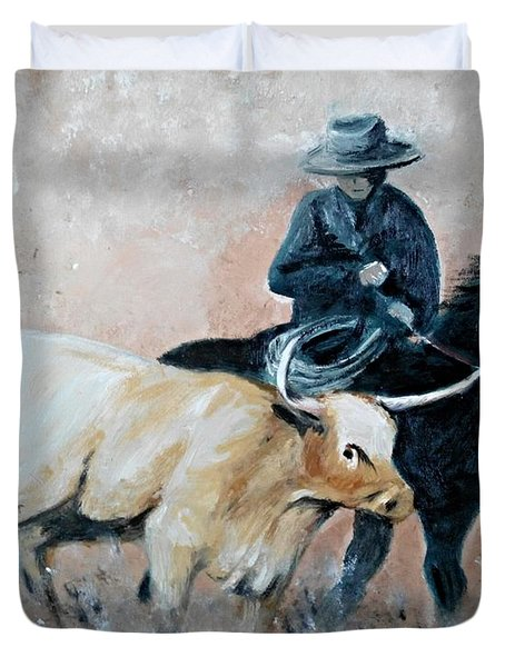 Roundup Duvet Cover by Isabella F Abbie Shores LstAngel Arts