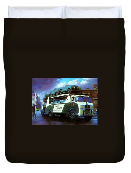 Rovers For Export. Duvet Cover by Mike  Jeffries