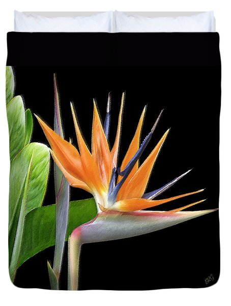 Royal Beauty I - Bird Of Paradise Duvet Cover by Ben and Raisa Gertsberg