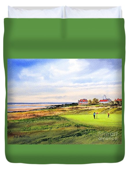 Royal Liverpool Golf Course Hoylake Duvet Cover by Bill Holkham