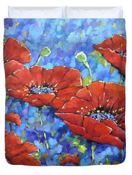 Royal Poppies By Prankearts Duvet Cover by Richard T Pranke