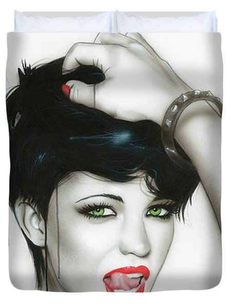 'Ruby' Duvet Cover by Christian Chapman Art