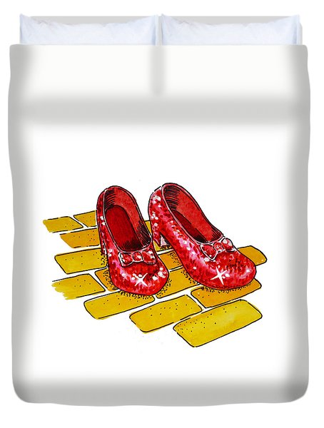 Ruby Slippers The Wizard Of Oz  Duvet Cover by Irina Sztukowski