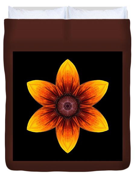 Rudbeckia I Flower Mandala Duvet Cover by David J Bookbinder
