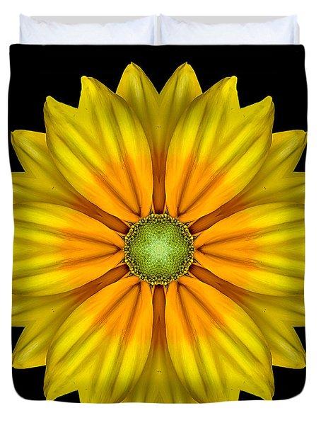 Rudbeckia Prairie Sun I Flower Mandala Duvet Cover by David J Bookbinder