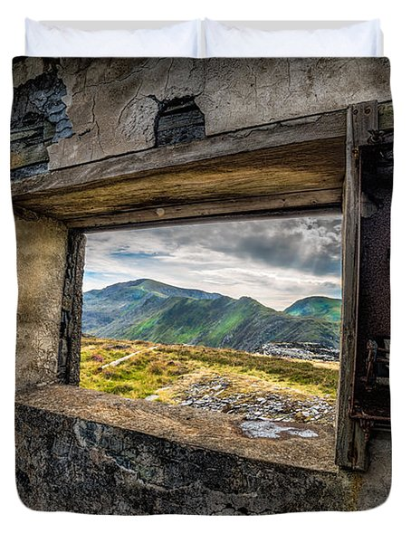 Ruin with a View  Duvet Cover by Adrian Evans