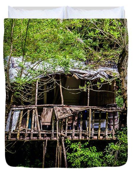 Ruins Of A House Duvet Cover by Sotiris Filippou