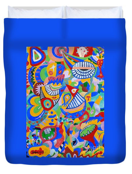 Rumor By Taikan Duvet Cover by Taikan Nishimoto