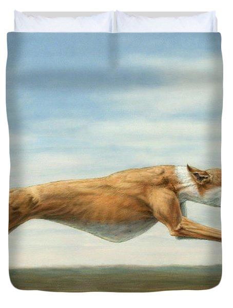 Running Free Duvet Cover by James W Johnson