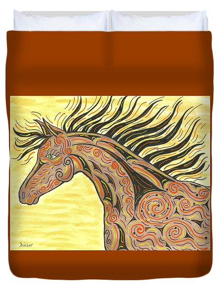 Running Wild Horse Duvet Cover by Susie WEBER