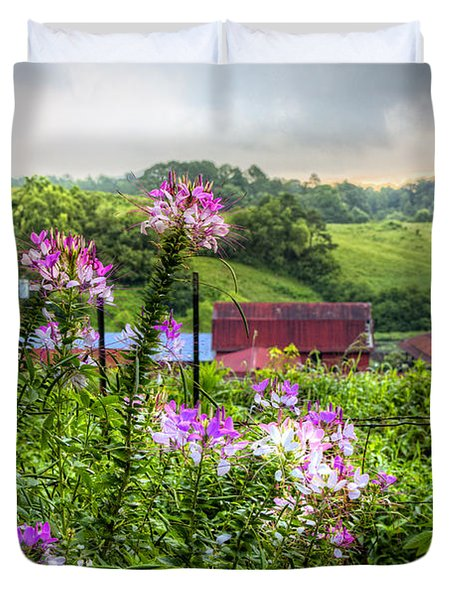 Rural Garden Duvet Cover by Debra and Dave Vanderlaan