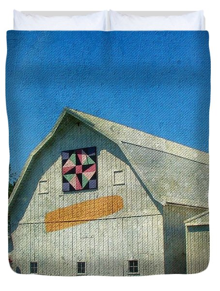 Rural Iowa Barn Duvet Cover by Cassie Peters