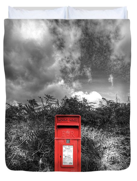 Rural Post box Duvet Cover by Mal Bray