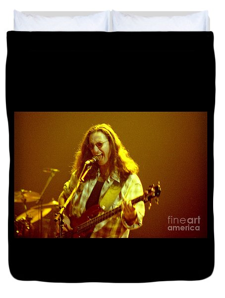 Rush92-geddy-a004 Duvet Cover by Timothy Bischoff
