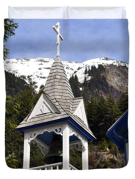 Russian Orthodox Church Bell Tower Duvet Cover by Cathy Mahnke